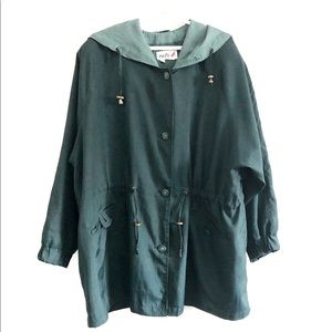 Lined hooded lightweight jacket. Size 20
